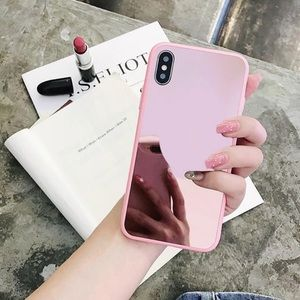 iPhone 7Plus/8Plus pink mirrored case!